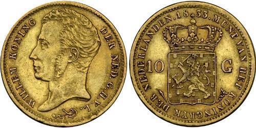 10 Гульден Королевство Нидерланды (1815 - ) Золото William I of the Netherlands (1772 - 1843)