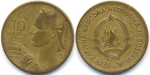 10 Динар Социалистическая Федеративная Республика Югославия (1943 -1992) Алюминий/Бронза