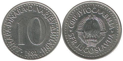 10 Динар Социалистическая Федеративная Республика Югославия (1943 -1992) Никель/Медь