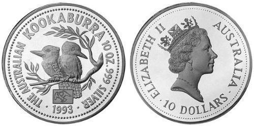 10 Долар Австралія (1939 - ) Срібло Єлизавета II (1926-)