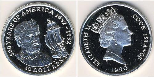 10 Долар Острова Кука Срібло