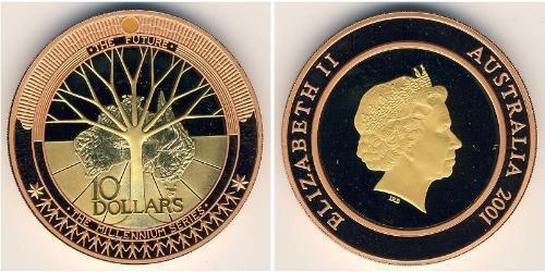 10 Доллар Австралия (1939 - ) Биметалл