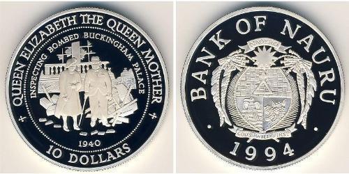 10 Доллар Науру Серебро
