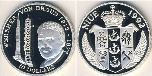 10 Доллар Ниуэ Серебро