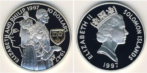 10 Доллар Соломоновы Острова Серебро