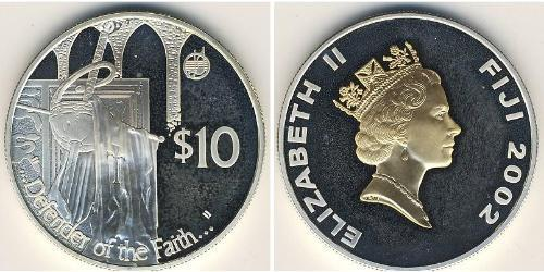 10 Доллар Фиджи Серебро