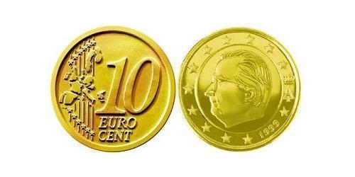 10 Евроцент Бельгия Алюминий/Цинк/Олово/Медь Альберт II король Бельгии