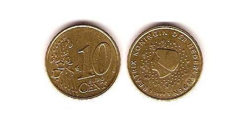 10 Евроцент Королевство Нидерланды (1815 - ) Алюминий/Цинк/Олово/Медь