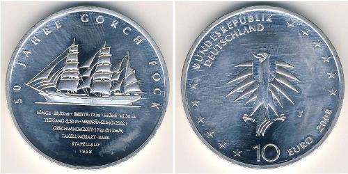 10 Евро Германия Серебро