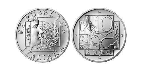 10 Евро Италия Серебро
