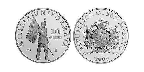 10 Евро Сан-Марино Серебро