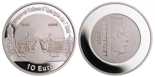 10 Евро Люксембург Серебро-Титан