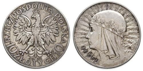 10 Злотий Польська республіка (1918 - 1939) Срібло Ядвіґа Анжуйська