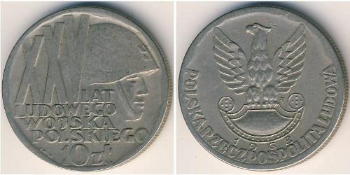 10 Злотый Польская Народная Республика (1952-1990) Никель/Медь