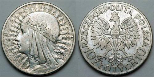 10 Злотый Польская Республика (1918 - 1939)