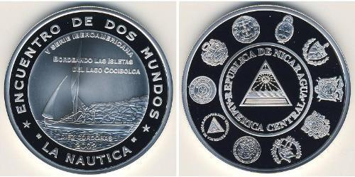 10 Кордоба Никарагуа Серебро