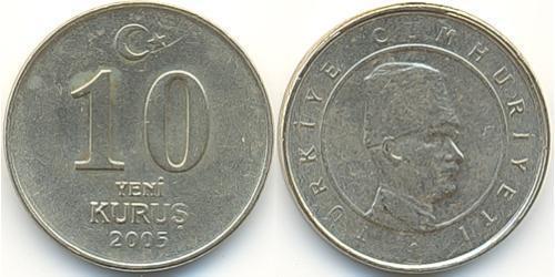 10 Куруш Турция (1923 - ) Никель/Латунь