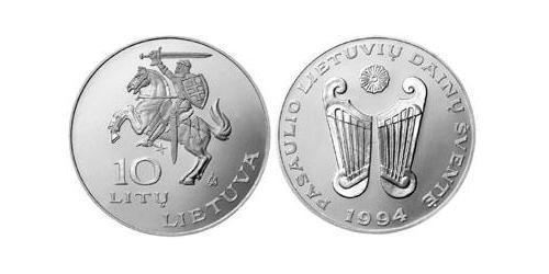 10 Лит Литва (1991 - ) Никель/Медь