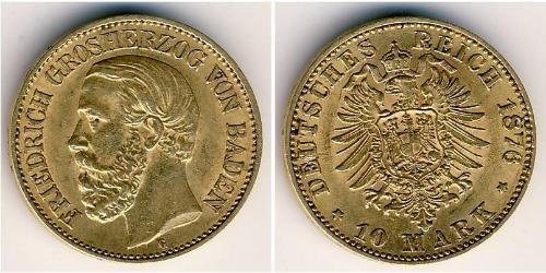 10 Марка Великое герцогство Баден (1806-1918) Золото