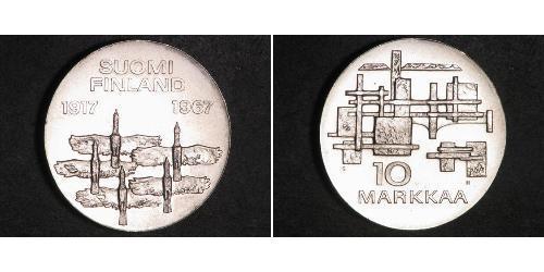 10 Марка Финляндия (1917 - ) Серебро