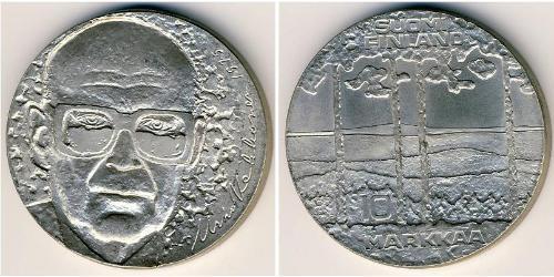 10 Марка Фінляндія (1917 - ) Срібло Урго Кекконен