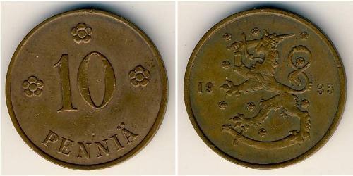 10 Пені Фінляндія (1917 - ) Мідь