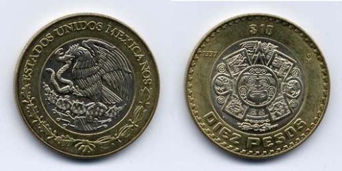 10 Песо Соединённые Штаты Мексики (1867 - ) Биметалл