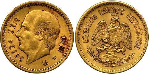 10 Песо Соединённые Штаты Мексики (1867 - ) Золото Miguel Hidalgo