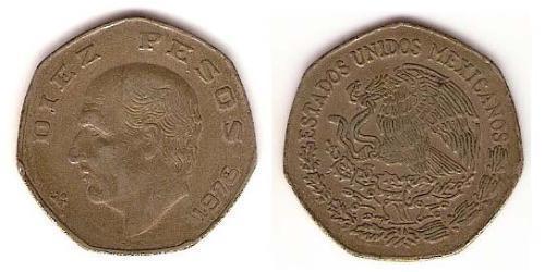10 Песо Соединённые Штаты Мексики (1867 - ) Никель/Медь