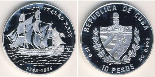10 Песо Куба Серебро