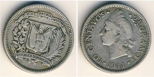 10 Сентаво Доминиканская Республика Серебро