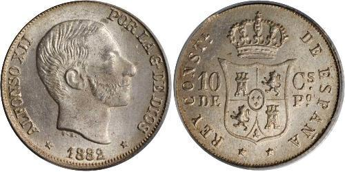 10 Сентимо Филиппины Серебро