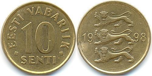 10 Сент Эстония (1991 - ) Алюминий/Бронза