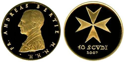 10 Скудо Мальтийский орден (1080 - ) Золото