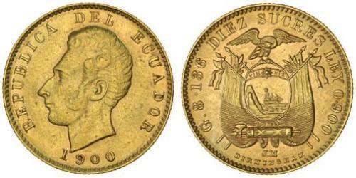 10 Сукре Эквадор Золото