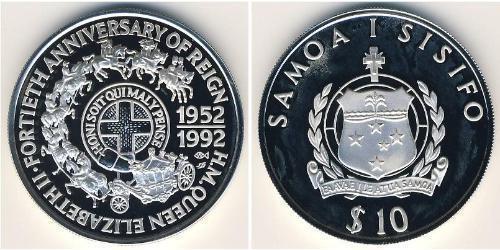 10 Тала Самоа Серебро