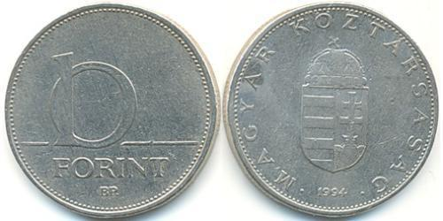 10 Форинт Венгрия (1989 - ) Никель/Медь