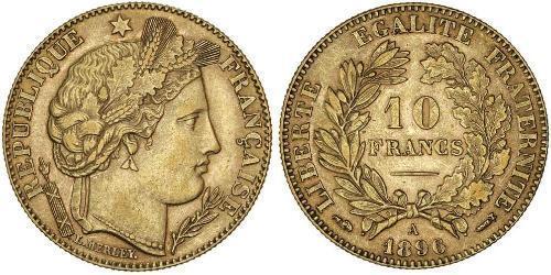 10 Франк Вторая французская республика (1848-1852) Золото