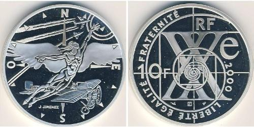 10 Франк Пятая французская республика (1958 - ) Серебро
