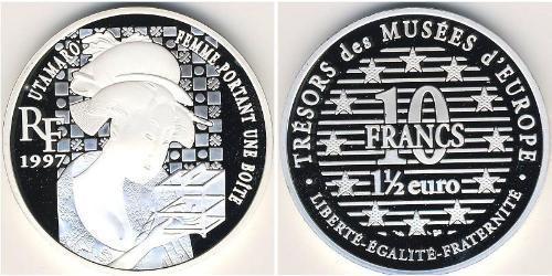 10 Франк / 1.5 Евро Франция Серебро