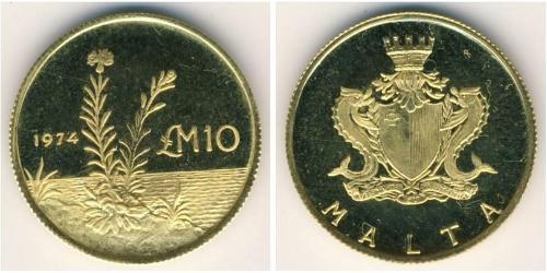 10 Фунт Мальта Золото