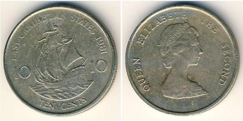 10 Цент  Никель/Медь Елизавета II (1926-)
