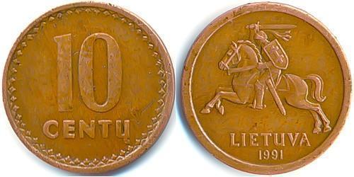 10 Цент Литва (1991 - ) Цинк/Олово/Медь