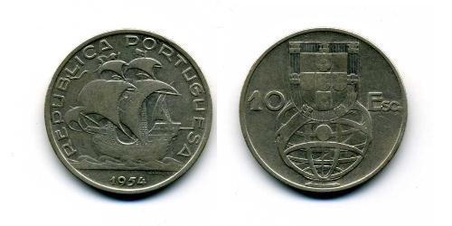 10 Эскудо Вторая Португальская республика (1933 - 1974) Серебро