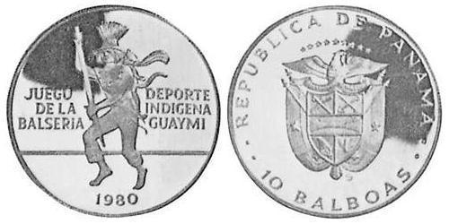 10 Balboa Republic of Panama Silver