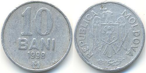 10 Ban Moldavia (1991 - ) Alluminio