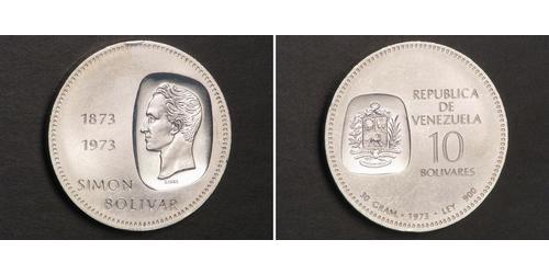 10 Bolivar Venezuela Argento