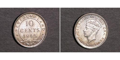 10 Cent Terranova e Labrador Argento Giorgio VI (1895-1952)