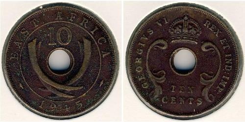 10 Cent África Oriental Bronce