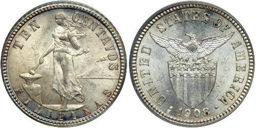 10 Centavo 菲律宾 銀